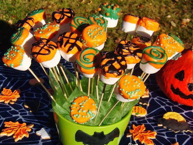 Celebration Treats 4U: Vaahtokarkkipopsit - Halloween, osa I