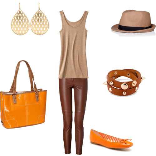 How to match orange and beige
