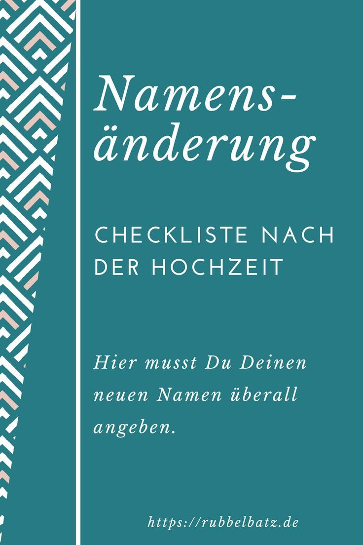 Checkliste Fur Namensanderung Nach Hochzeit In 2020 Namensanderung Hochzeit Checkliste Hochzeit Namensanderung