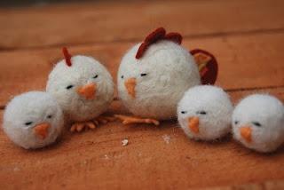 felt ball chicks