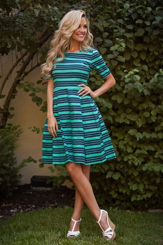 Mint Teal Navy Modest Dress Down East Basics, Church Dresses, dresses for church, modest bridesmaids dresses, trendy modest dresses, modest womens clothing, affordable boutique dresses, cute modest dresses, mikarose, trendy modest boutique