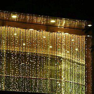 solmore 3mx3m rideau lumineux 300 led festival guirlande lumineuse pour dcoration de nol fte - Tenture Mariage Lumineuse