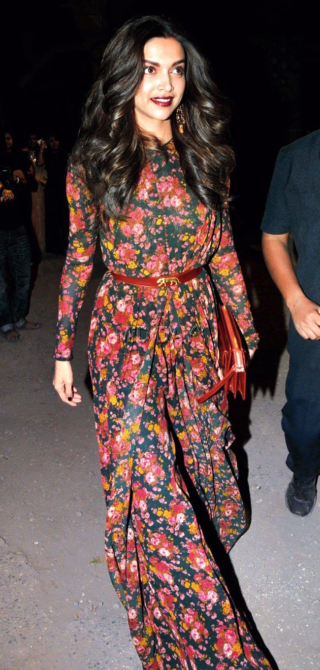 Deepika Padukone at the Lakme Fashion Week Summer/Resort 2015 curtain raiser.