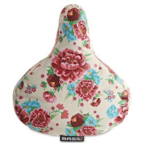 Product review for Bell Basil Bloom Saddle Cover - Basil Bloom Bike Saddle Cover This Basil saddle cover is made from water repellent polyester material with an all over floral print that will brighten up any bike. Will keep your saddle dry when leaving your bike out on rainy days and is small enough to keep in your pocket or...
