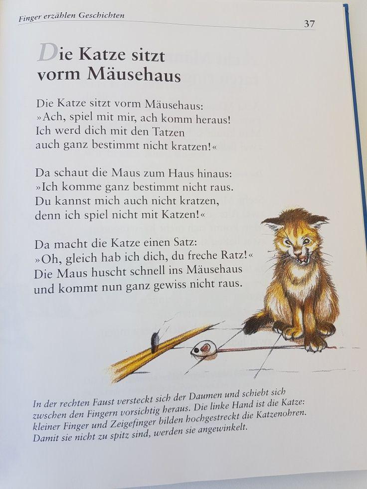 Die Katze sitzt vorm Mäusehaus #fingerspiel #krippe #kita #kindergarten #kind #reim #gedicht #erzieherin #erzieher