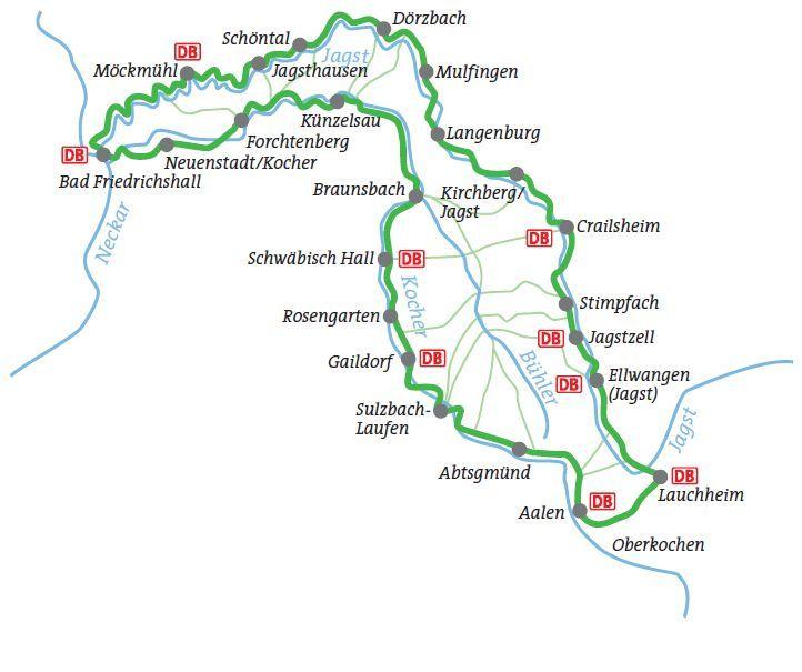 Startseite Aktuelles Kocher Jagst Radweg 332 Km Rundtour An
