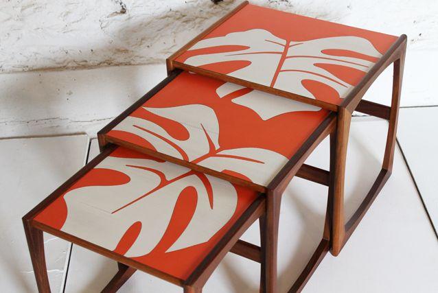 G plan tangerine nest of tables lucy turner - £145