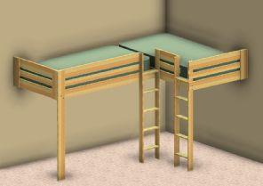 Double Loft Bed Plans