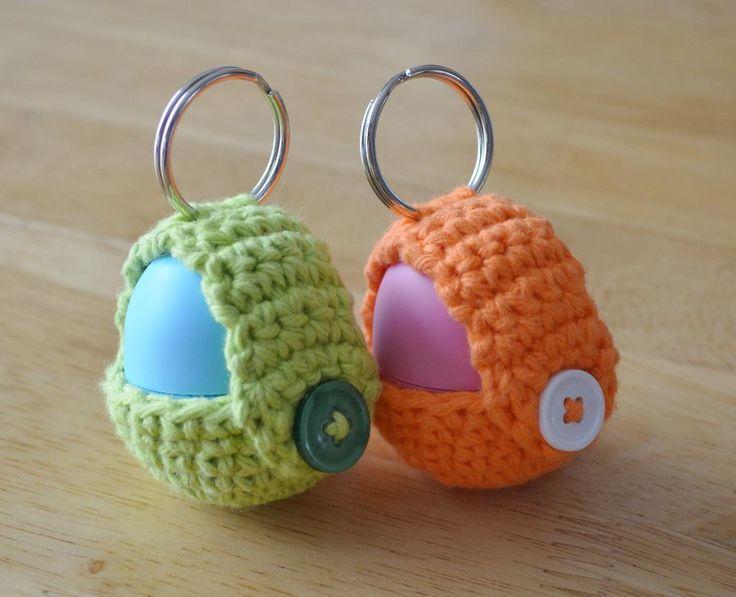 Keychain EOS Lip Balm Holder pattern on Craftsy.com