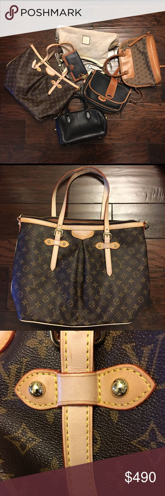 Lot Of 1 LV, 4 Bags Dooney & Bourke, 1 Bag J.crew Lot of 1 Louis Vuitton purse, 3 Dooney&Bourke purses, 1 D&B wallet, 1 J.Crew purse.  100% Authentic D&B Bags. Made in USA and 1 in China. The bags have had some use and the brown D&B bag does have ink markings inside; however, the outside is in good condition.  100% Authentique J.Crew Bag. Made in China. Inside and outside is clean.  Louis Vuitton (not sure of authenticity) - Date code 136098 - Made in France. Inside the bag is clean. Strap…