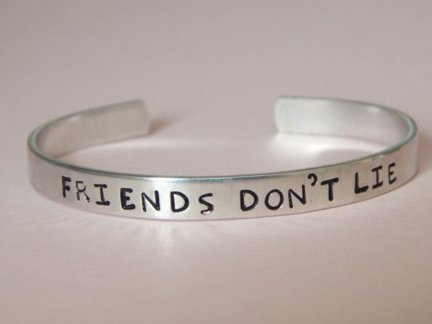 """This hand-stamped quote bracelet: 
