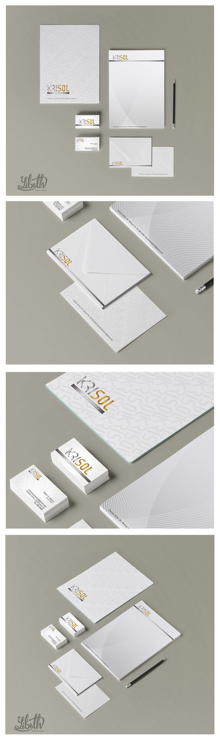 Desarrollo de marca: KRISOL CONSTRUCTORA.  Diseño personal. Autor: Yibeth Gonzalez Silva.