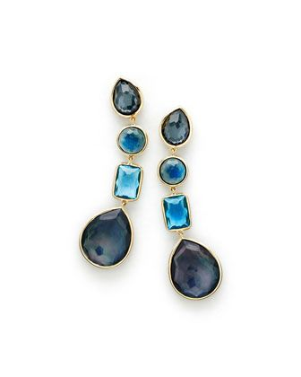 18K+Rock+Candy+Linear+Four-Drop+Earrings+in+Midnight+Rain+by+Ippolita+at+Neiman+Marcus.