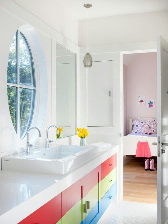 @CheviotProducts Likes The Fun Stripes In This Kids Bathroom. Kid Bathroom  DecorKid ... Part 60