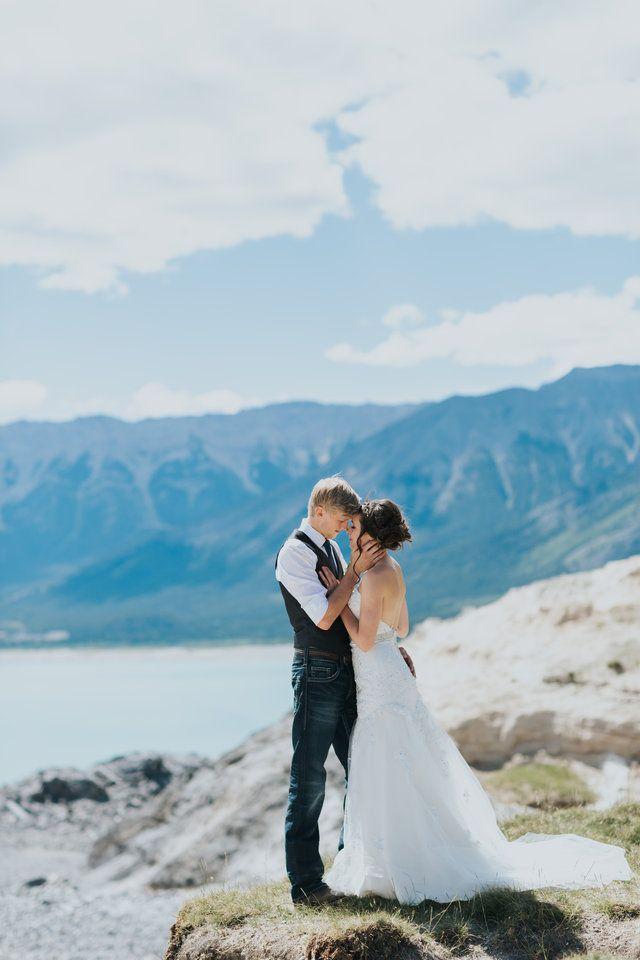 Nordegg wedding photography at Abraham Lake