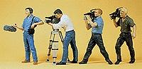 Camera Crew Film News Crew Cameramen in Action 4 Pack Figure HO Scale | eBay