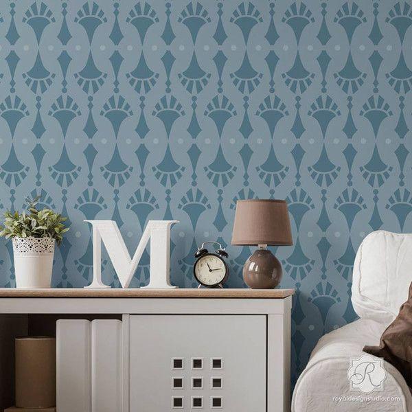 Wallpaper Wall Stencils : Mejores im?genes sobre modern wall stencils en