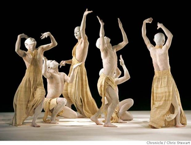 The Japanese Butoh company Sankai Juku from Japan performs Kagemi - Beyond The Metaphors Of Mirrors, November 14, 2006 at the Yerba Buena Center for the Arts Theater in San Francisco. Chris Stewart / The Chronicle MANDATORY CREDIT FOR PHOTOG AND SF CHRONICLE/ -MAGS OUT Photo: Chris Stewart