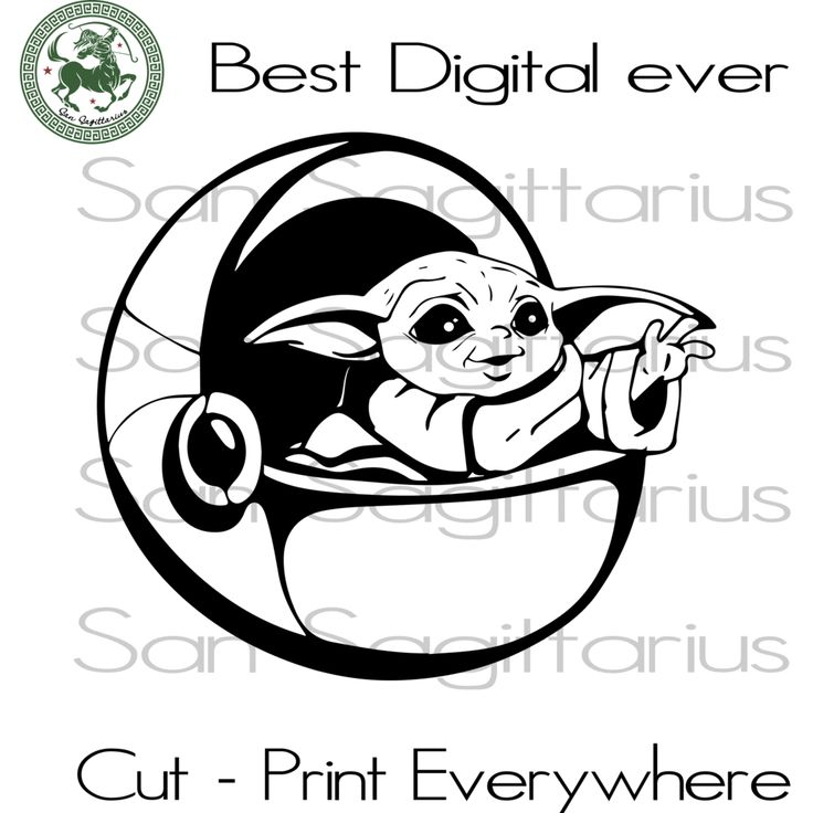 Download Baby Yoda SVG Files For Silhouette Cricut Files Instant ...