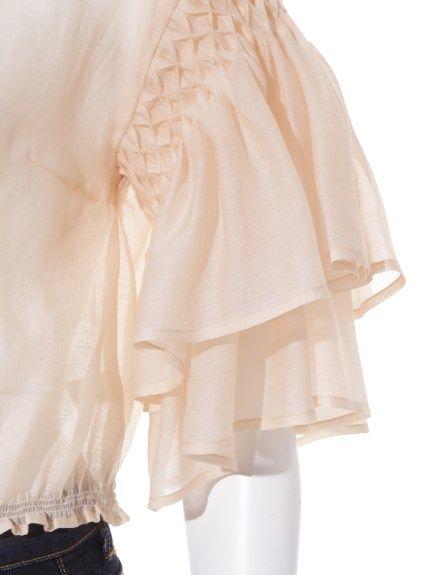 フリルスリーブトップス(プルオーバー) Lily Brown(リリーブラウン) ファッション通販 ウサギオンライン公式通販サイト