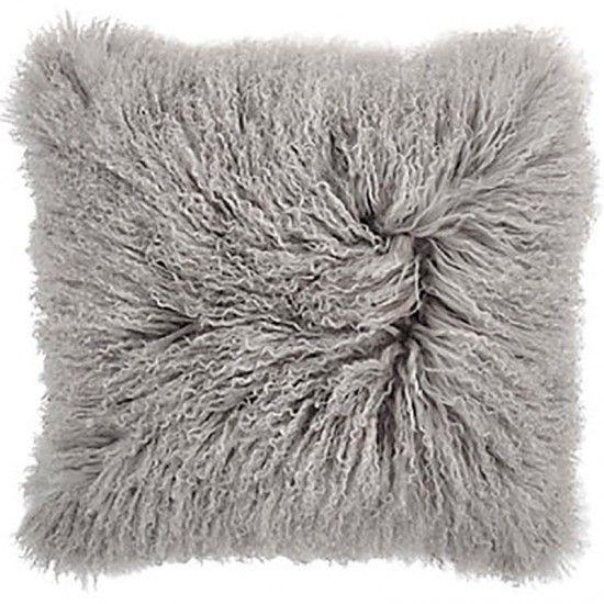 Mongolian Pillow Light Grey