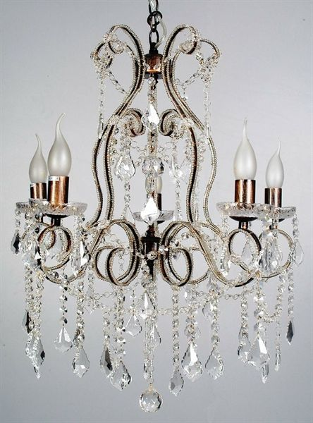 Venice 5 Light Crystal Pendant (5044-Italux) V & M Imports – Bright Lighting
