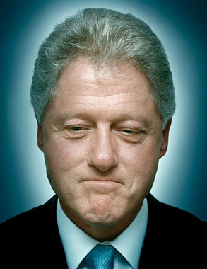 """William Jefferson """"Bill"""" Clinton (born William Jefferson Blythe III) 42nd President of the US.  At the time of his inauguration, he was the third youngest President."""