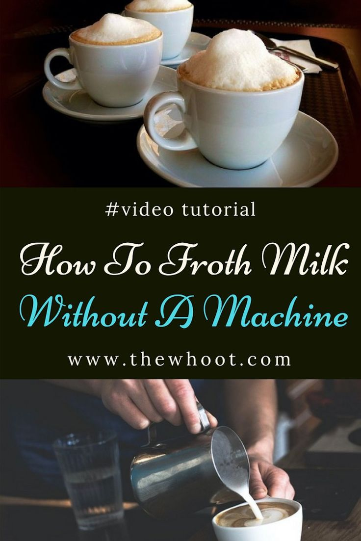 How To Froth Milk Without Machine Youtube Video Tutorial