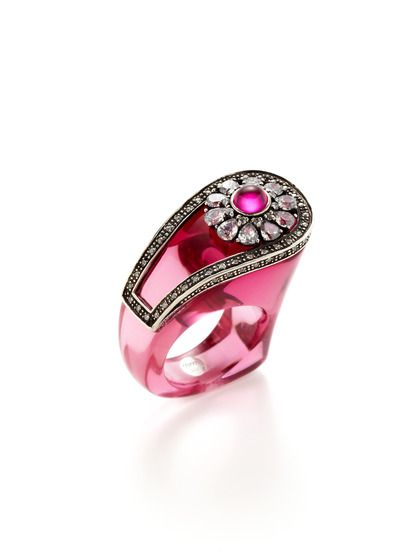 Pink Salvador Ring by Miriam Salat on Gilt.com