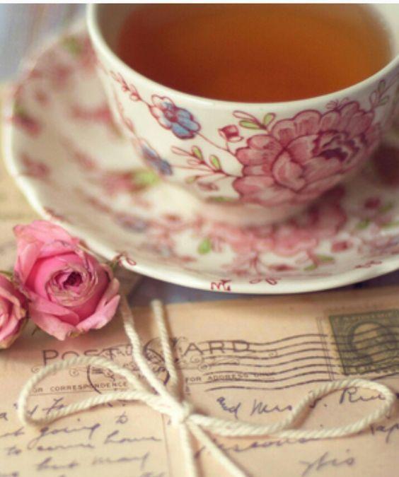 An afternoon of tea and correspondence .. Enchanted Fairytale Dreams via Tumblr