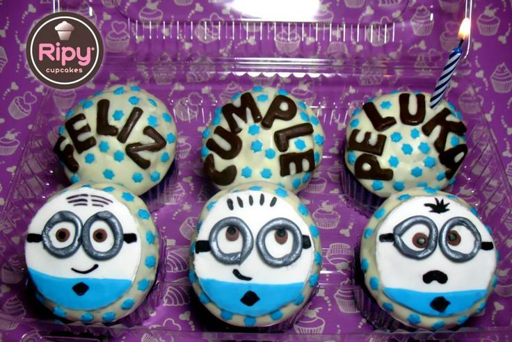 MINIONS  Contactos Whatsapp : 301 500 63 86 - 301 461 34 58  Correo : ripycupcakes@gmail.com  Twitter : @RiPyCupcakes   PIN : 2A30884C - 2A408233