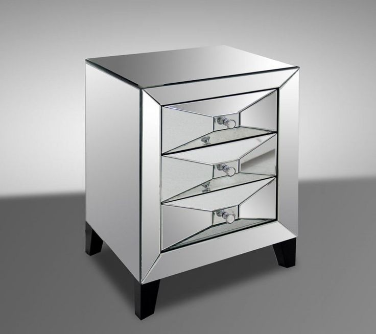 Modrest Warwick - Transitional Mirror Bedside Table