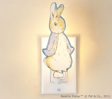 The Peter Rabbit Nightlight offers comfort as your baby falls asleep. - from @Pottery Barn Kids #PampersBabyDry