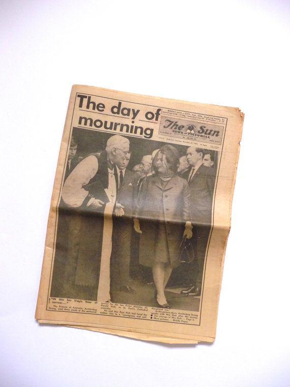 Vintage Newspaper The Sun News Pictorial Melbourne Australia