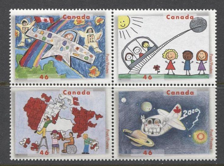 Canada #1862a 46c Stampin the Future Block NF/DF Paper - VF-84 NH | eBay