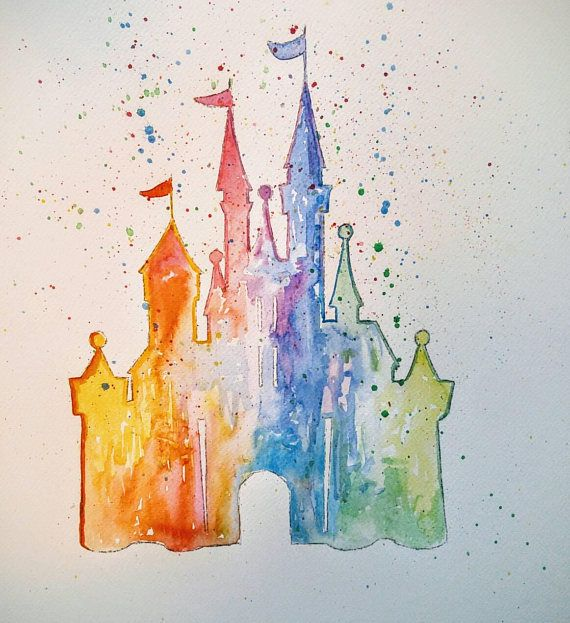 Check out this item in my Etsy shop https://www.etsy.com/ca/listing/536090814/disney-castle-watercolor-castle-not