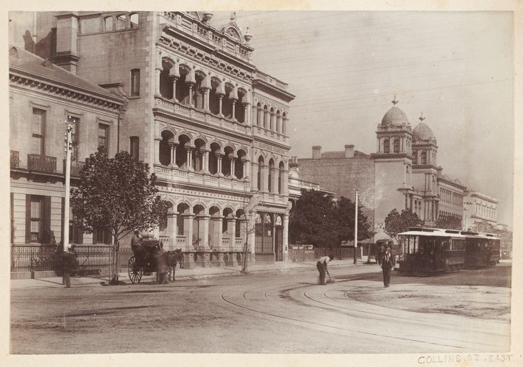 Cable tram in Collins Street, near Spring Street, Melbourne, c1890-1900. Photograph courtesy State Library Victoria.