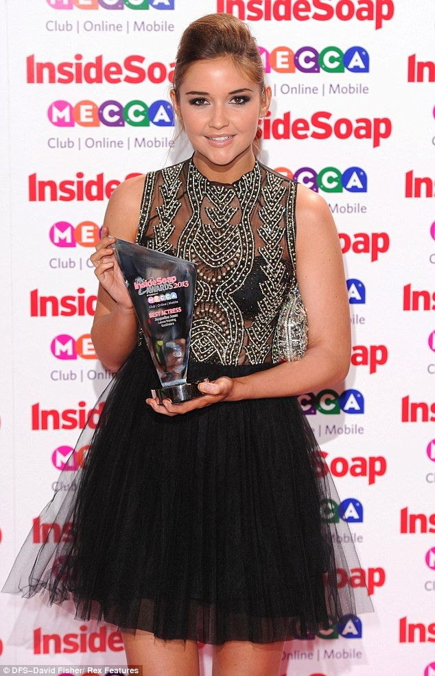 Winning: Jacqueline Jossa not only won award for Best Actress but she was also amongst the best dressed at the Inside Soap Awards