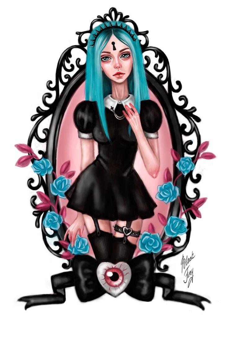 Gothic Malvina by BlackFurya.deviantart.com on @deviantART