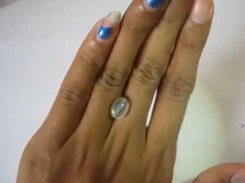 Batu Mulia Sillimanite Cat Eye 3.31 carat Greyish White