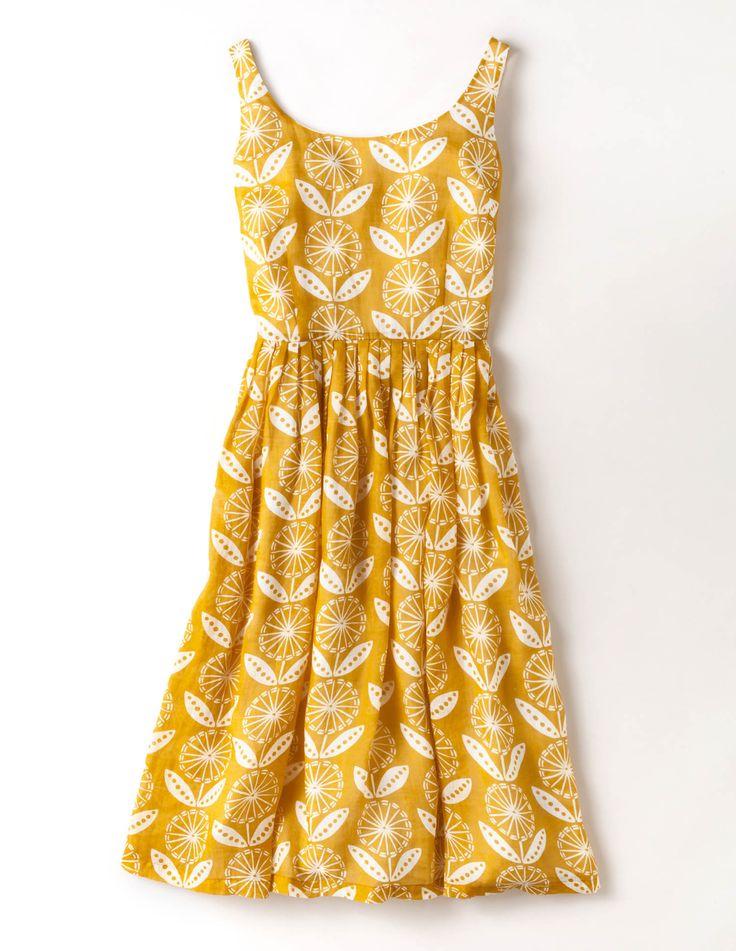 Yellow Print Dresses