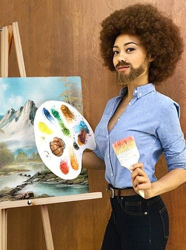 Bob Ross costume. Get this and more creative halloween costume ideas here