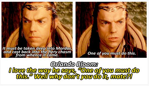 """LOTR commentary: """"Well, why don't you do it, mate?"""""""