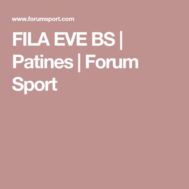 FILA EVE BS | Patines | Forum Sport