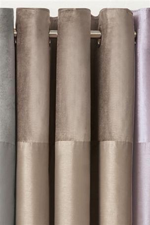 Buy Ella Velvet Header Eyelet Curtains from the Next UK online shop