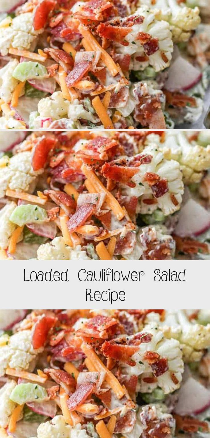 Need a healthy vegetable salad for your next potluck? Try this easy Cauliflower Salad, made with celery, radishes, bacon and cheese! #spendwithpennies #cauliflowersalad #broccolicauliflowersalad #keto #potatosalad #FoodandDrinkSalad