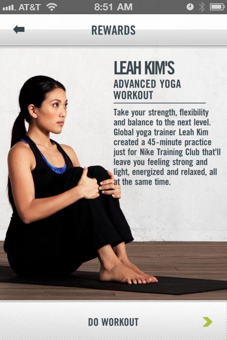 Leah Kim yoga - wish I had an iPhone!
