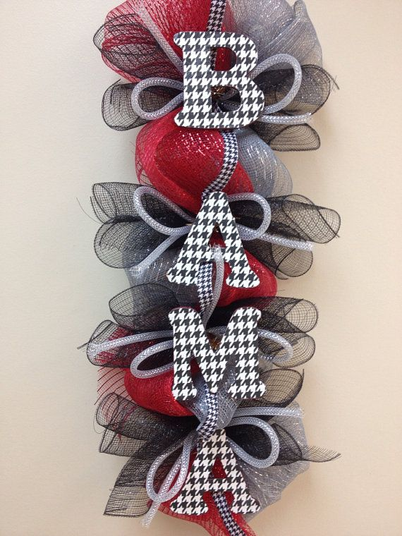 ALABAMA WREATH HOUNDSTOOTH by KingdomTouches on Etsy, $40.00
