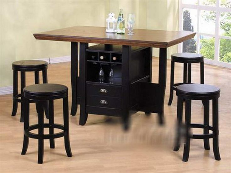 kitchen counter height kitchen tables with storage with the wine round black kitchen table - Black Kitchen Tables