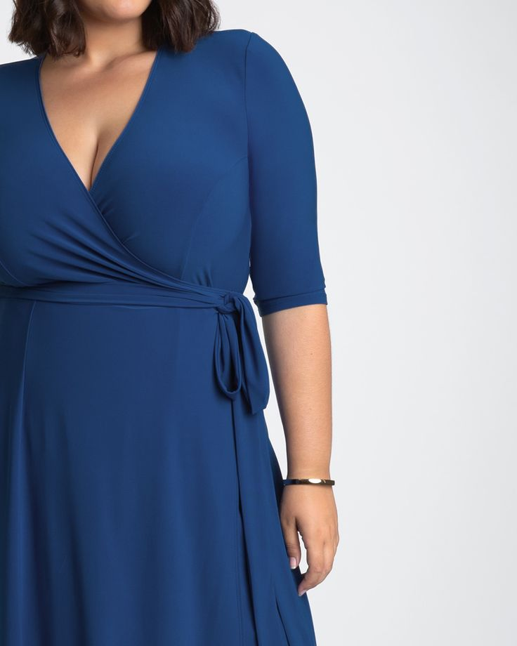 Kiyonna Womens Plus Size Essential Wrap Dress - Sale! 1